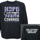 Hodgkin's Lymphoma Hope Strength Faith Courage Long Sleeve Shirt