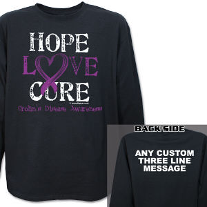 Hope Love Cure Crohn's Disease Awareness Long Sleeve Shirt