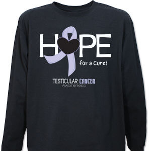 Testicular Cancer Hope For A Cure Long Sleeve Shirt
