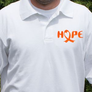 Hope Ribbon Polo Shirt