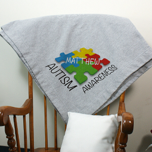 Autism Awareness Fleece Blanket