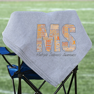 Multiple Sclerosis Awarenes Fleece Blanket