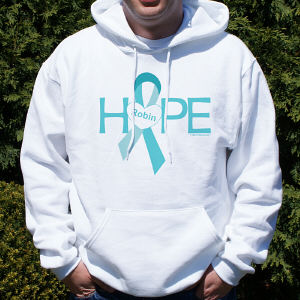 Hope Ovarian Cancer Awareness Hooded Sweatshirt