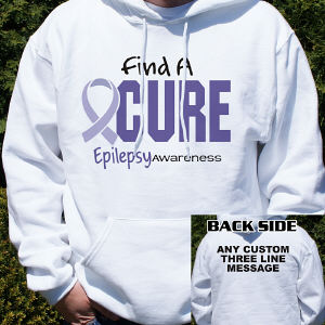Personalized Find A Cure Epilepsy Awareness Hooded Sweatshirt