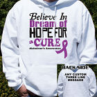 Believe In A Cure Alzheimer's Awareness Hooded Sweatshirt H54239X