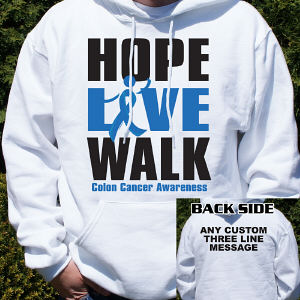 Hope Live Walk Colon Cancer Awareness Hooded Sweatshirt