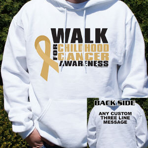Walk for Childhood Cancer Awareness Hooded Sweatshirt