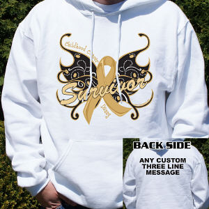 Childhood Cancer Survivor Butterfly Hooded Sweatshirt
