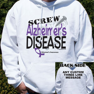 Screw Alzheimer's Disease Hooded Sweatshirt