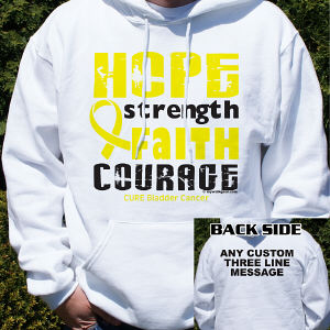 Cure Bladder Cancer Awareness Hooded Sweatshirt