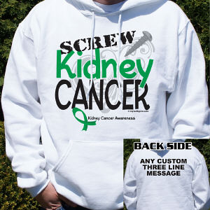 Screw Kidney Cancer Hooded Sweatshirt