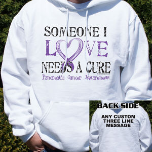 Needs A Cure Pancreatic Cancer Awareness Hooded Sweatshirt