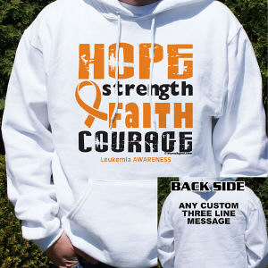 Leukemia Awareness Hooded Sweatshirt
