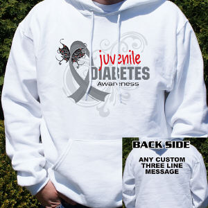 Juvenile Diabetes Awareness Hooded Sweatshirt