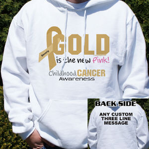Gold Is The New Pink Childhood Cancer Awareness Hooded Sweatshirt