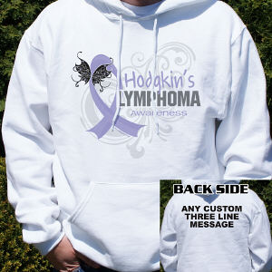 Hodgkin's Lymphoma Awareness Hooded Sweatshirt