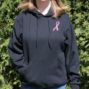 Breast Cancer Hope Ribbon Hooded Sweatshirt