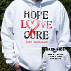 Hope Love Cure AIDS Awareness Hooded Sweatshirt
