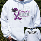 Crohn's Disease Awareness Hooded Sweatshirt