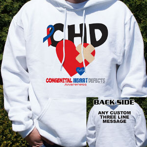 CHD Awareness Hooded Sweatshirt