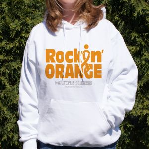 Rockin' Orange MS Awareness Hooded Sweatshirt