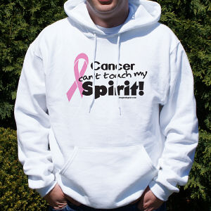 Pink Hope Ribbon Spirit Hooded Sweatshirt
