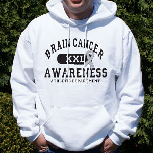 Brain Cancer Awareness Hooded Sweatshirt