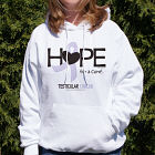 Testicular Cancer Hope for A Cure Hooded Sweatshirt