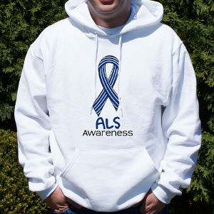ALS Awareness Ribbon Hooded Sweatshirt