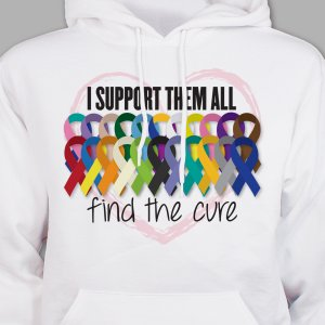 Support Awareness Hooded Sweatshirt