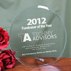 Fundraiser of the Year Logo Glass Circle Plaque