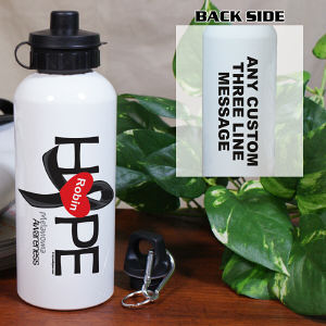 Melanoma Hope Awareness Water Bottle
