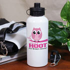 Give a Hoot Breast Cancer Awareness Water Bottle U603320