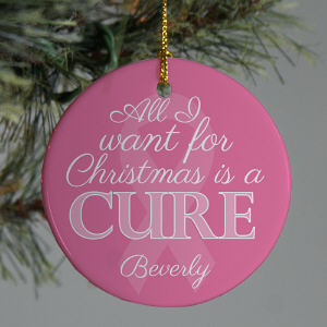 Pink Ribbon Awareness Ornament