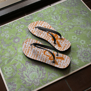 Orange Power Flip Flops