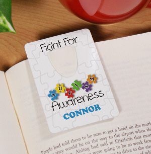 Fight for Autism Awareness Bookmark
