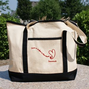 No Fear in This Heart Chemotherapy Tote Bag