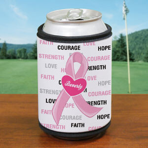 Hope and Love Breast Cancer Can Wrap Koozie