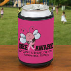 Bee Aware Breast Cancer Can Wrap Koozie 336719