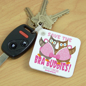 Save the Bra Buddies Breast Cancer Awareness Key Chain