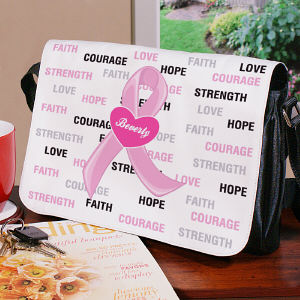Hope and Love Breast Cancer Awareness Shoulder Bag