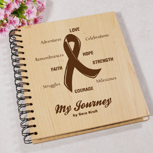 My Journey Engraved Breast Cancer Photo Album