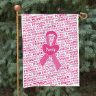 Personalized Breast Cancer Awareness Garden Flag
