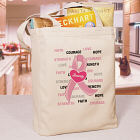 Hope and Love Breast Cancer Awareness Canvas Tote Bag 836632