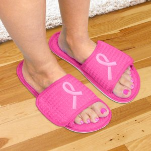 Pink Ribbon Pink Slippers