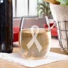 Awareness Ribbon Stemless Wine Glass L779395