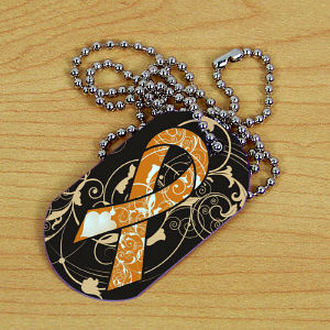 MS Awareness Ribbon Dog Tag