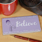 Personalized Believe Awareness Checkbook Cover
