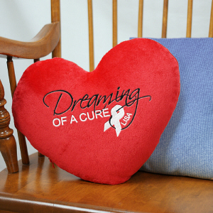 Find a Cure Heart Throw Pillow