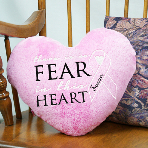 No Fear Heart Throw Pillow